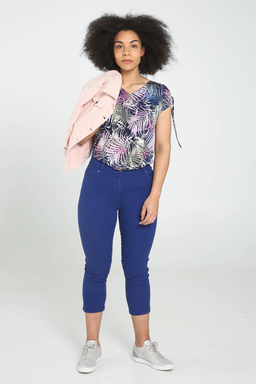 Cassis cropped skinny jeans blauw, Blauw