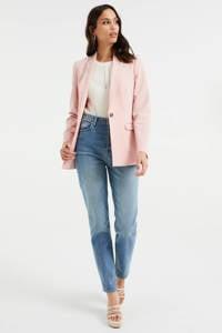 WE Fashion Blue Ridge cropped tapered fit jeans blue denim, Blue denim