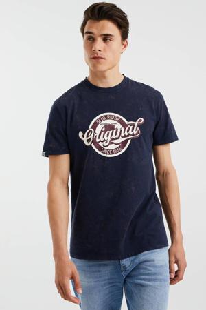 T-shirt met printopdruk heavy blue