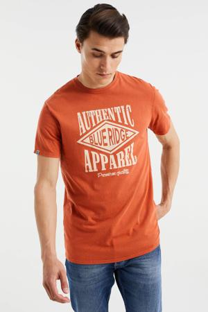 slim fit T-shirt met printopdruk Spicy Ginger