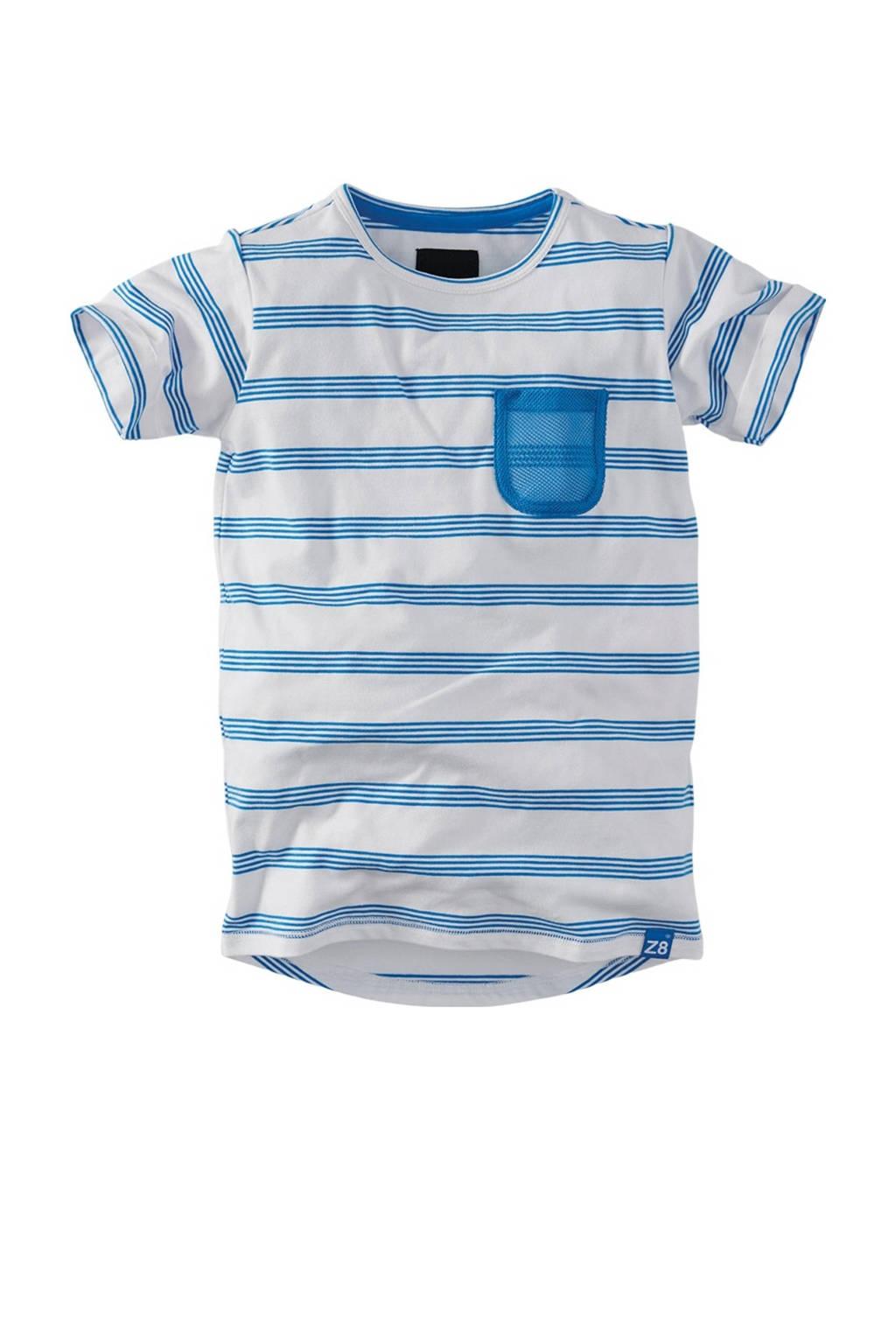 Z8 gestreept T-shirt Cenzo wit/blauw, Wit/blauw