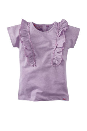gemêleerd T-shirt Ebony lila