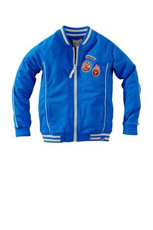 vest Koda met patches blauw/wit