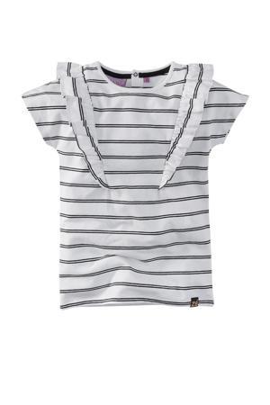 gestreept T-shirt Wisanne wit/zwart