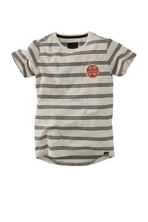 gestreept T-shirt Pijke ecru/zwart
