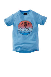 Z8 T-shirt Caleb met printopdruk blauw/rood, Blauw/rood
