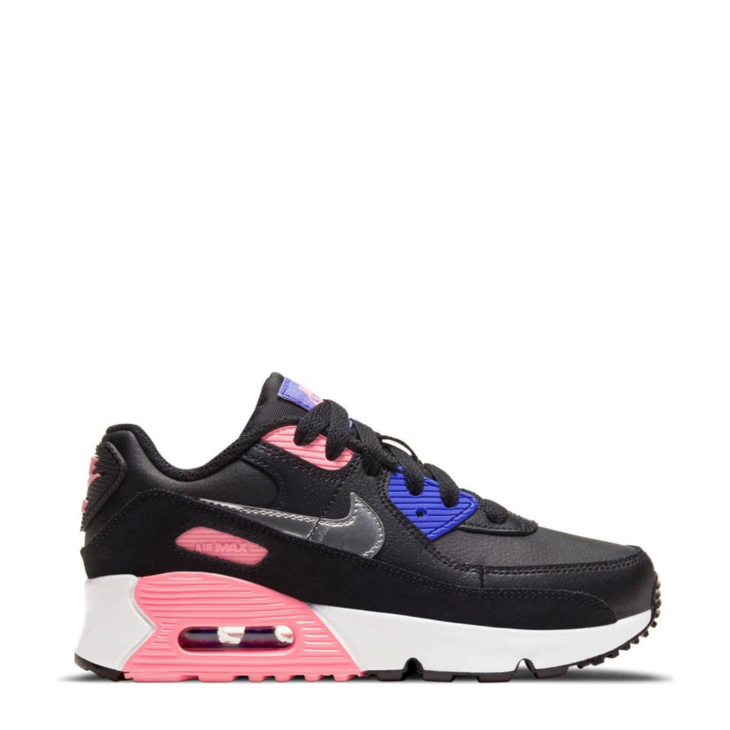 Nike Air Max 90 LTR sneakers zwart/zilver/roze, Zwart/zilver/roze