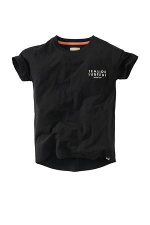T-shirt Daaf met tekst zwart/wit