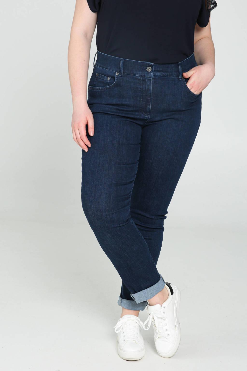 PROMISS high waist regular fit jeans dark denim, Dark denim