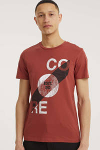 JACK & JONES CORE T-shirt Star met printopdruk rood, Rood