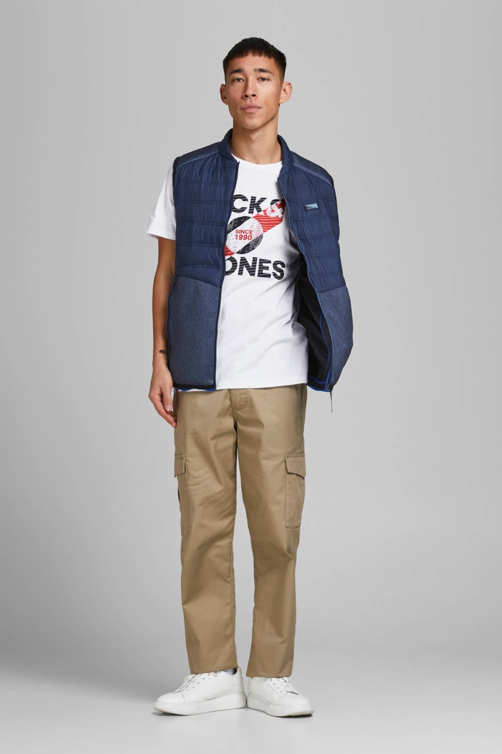 JACK & JONES CORE T-shirt Star met logo wit, Wit