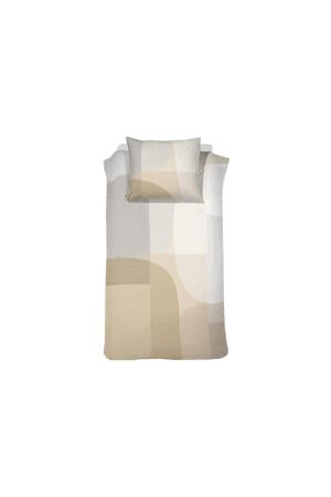 katoenen Damai Dekbedovertrekset satijn 140 x 200/220 cm Moore butter cream