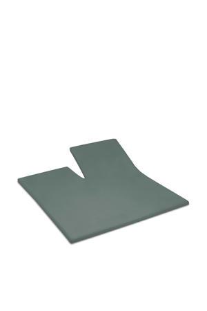 katoenen Cinderella single-split topper satijn 180x200 (34) green (tot 15 cm) Grijs