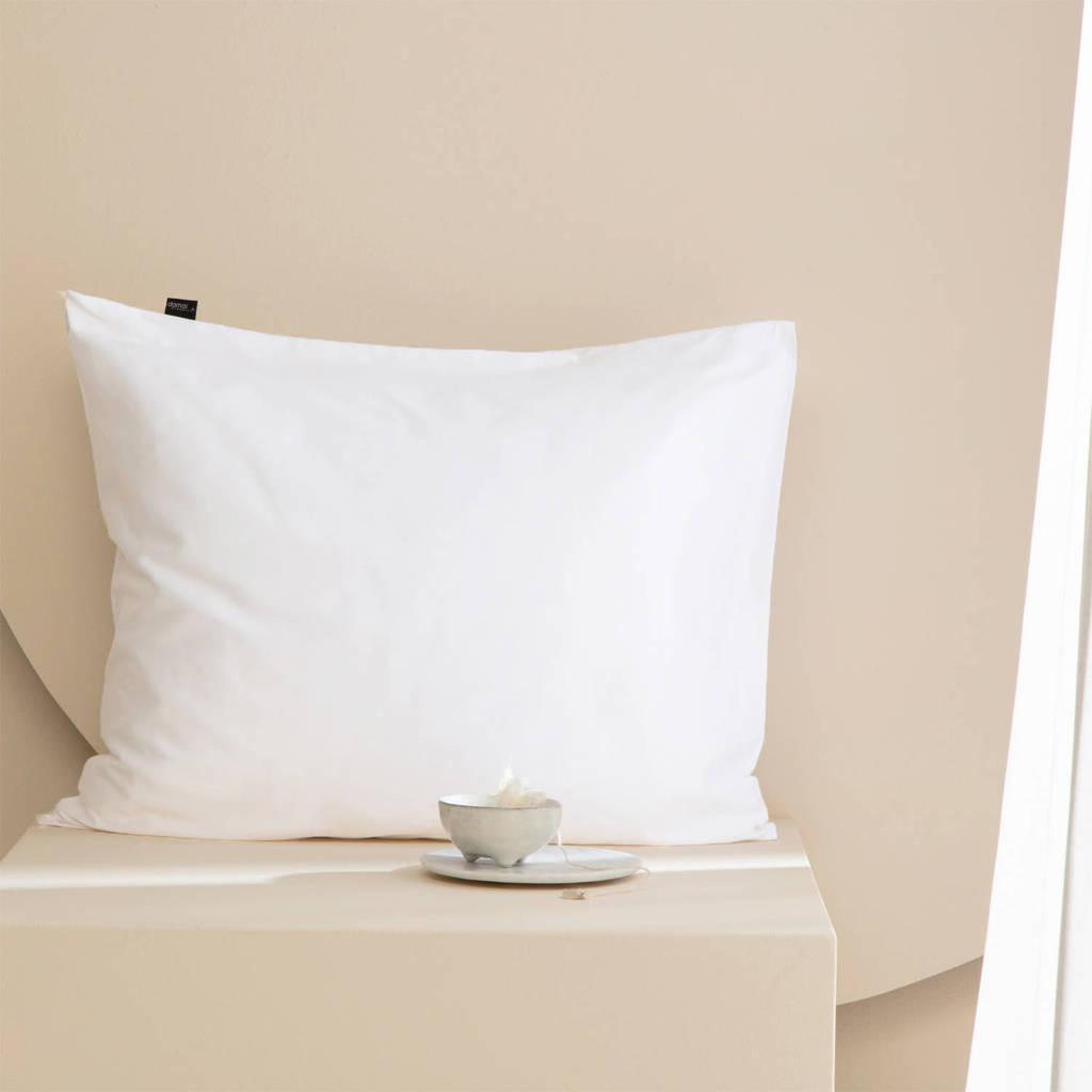 Damai Katoen (biologisch) Damai slopen organic satijn 60x70cm (01) white (per paar), Wit