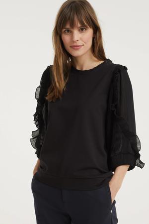 trui met volant zwart
