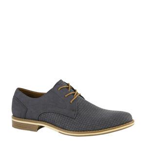 veterschoenen met crocoprint donkerblauw
