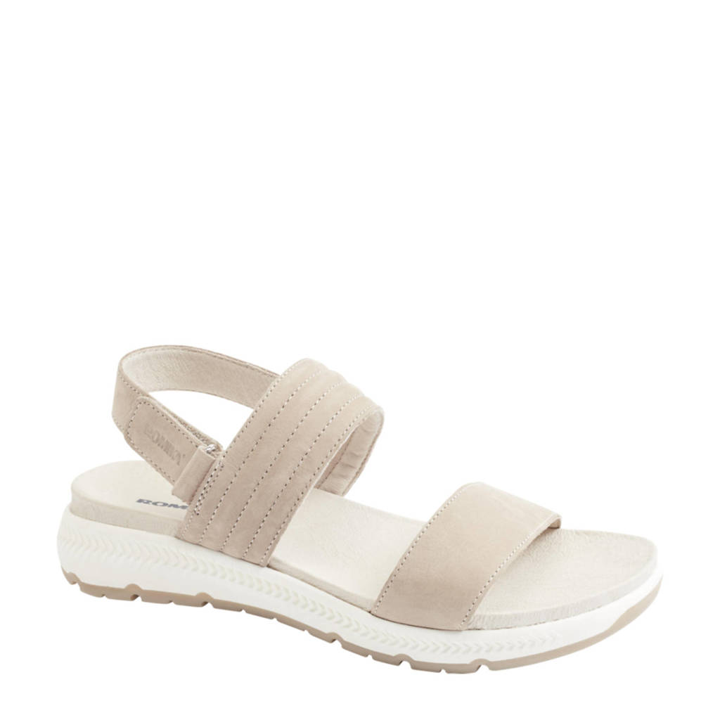 Romika   nubuck sandalen taupe, Taupe