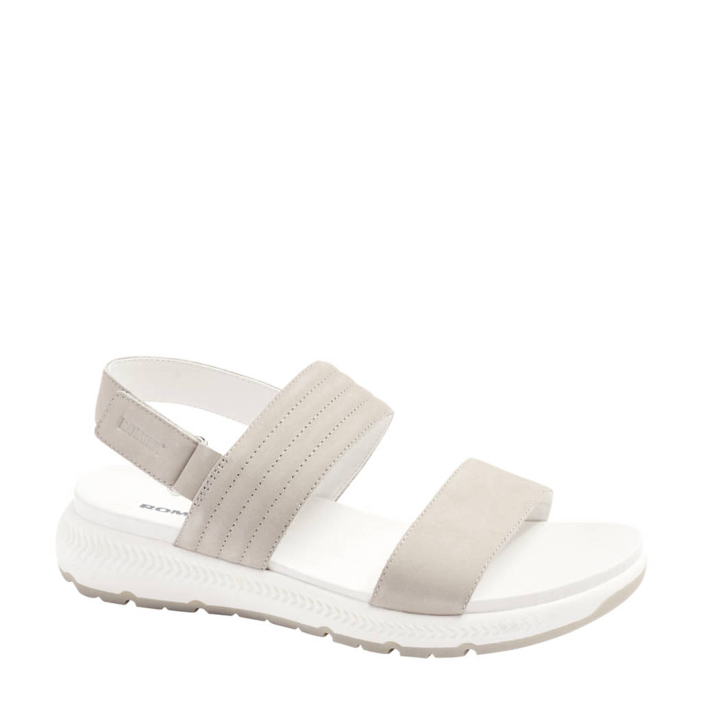 Romika   nubuck sandalen lichtgrijs, Lichtgrijs