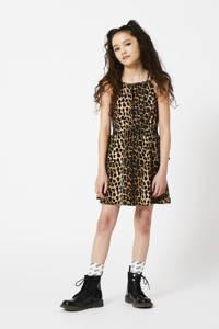 CoolCat Junior jurk Daisy met panterprint bruin/zwart, Bruin/zwart