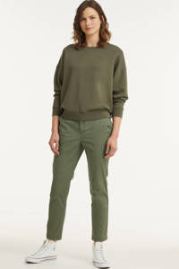 GAP cropped tapered fit chino donkergroen, Donkergroen