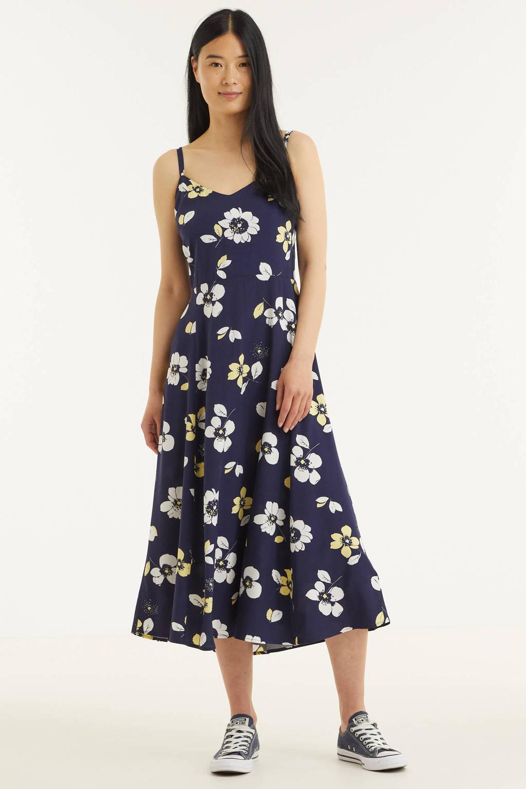 GAP gebloemde A-lijn jurk donkerblauw, Donkerblauw