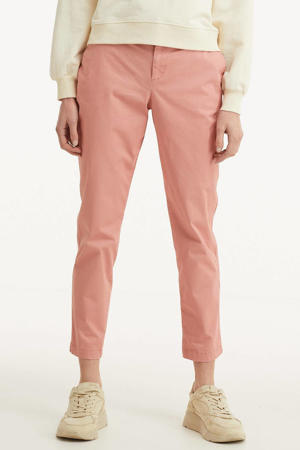 cropped tapered fit chino roze