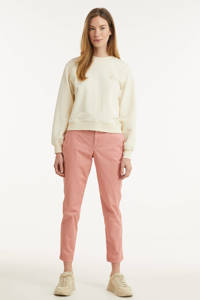 GAP cropped tapered fit chino roze, Roze