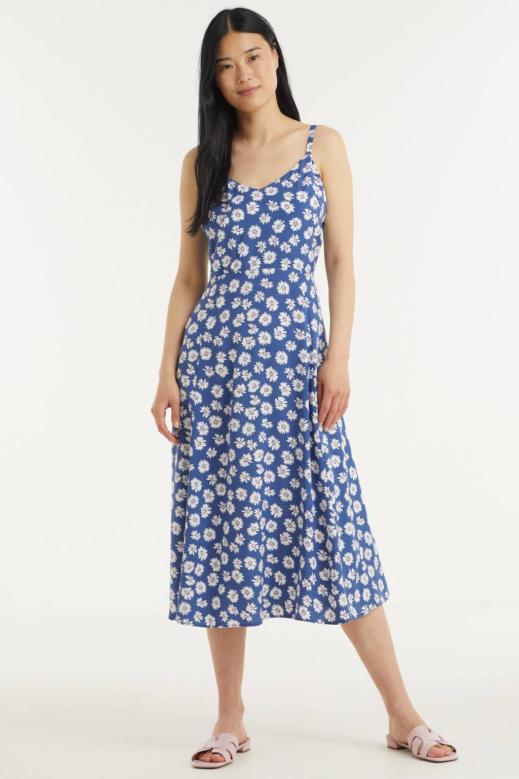 GAP gebloemde A-lijn jurk blauw, Blauw