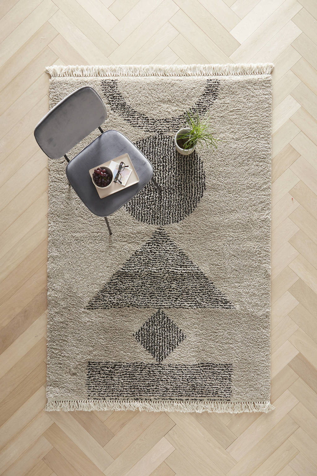 Wehkamp Home vloerkleed  (230x160 cm), sand/black