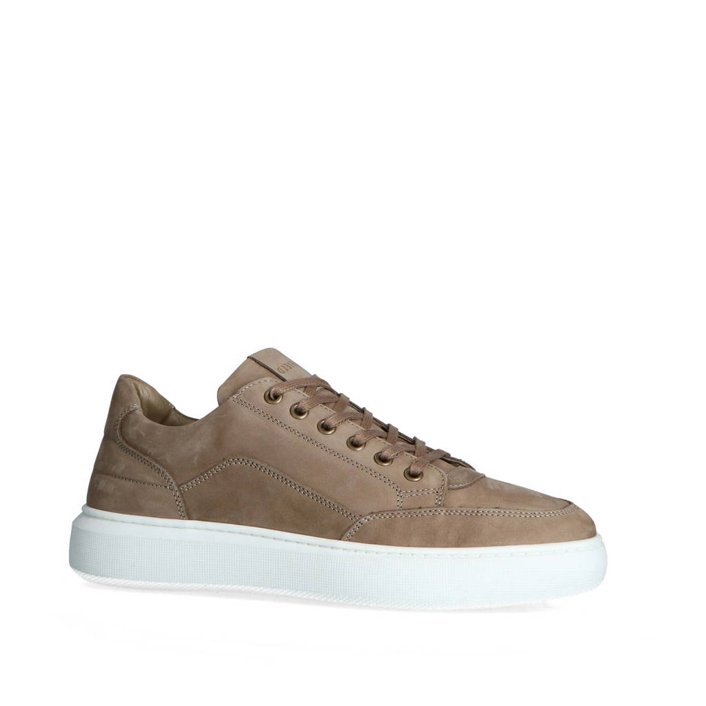 Manfield   nubuck sneakers taupe, Taupe