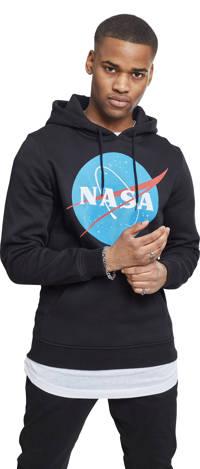 Urban Classics hoodie met printopdruk zwart, Zwart