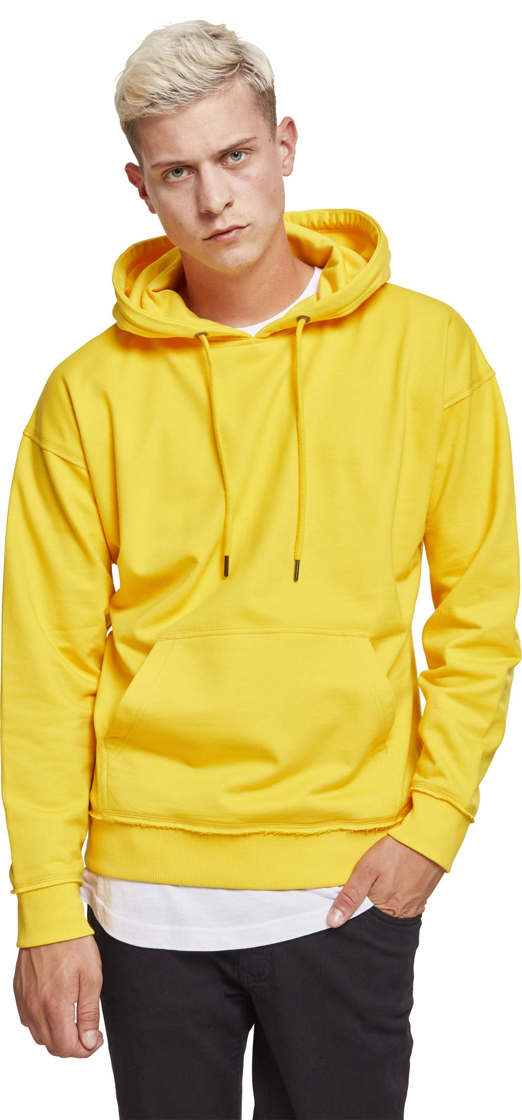 Urban Classics hoodie lichtgeel, Lichtgeel