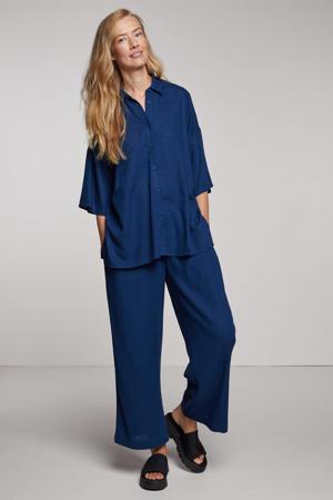 blouse Berya met textuur marine