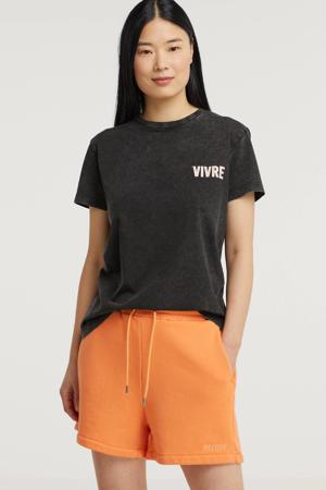 T-shirt Vivre met printopdruk zwart