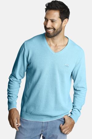 trui LINDOMAR Plus Size met logo turquoise