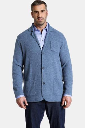 gebreid oversized colbert Earl JAMES Plus Size met wol blauw