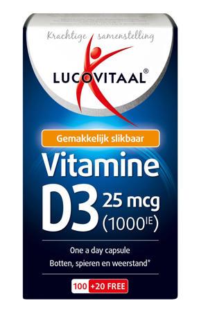 D3 25mcg (1000IU) Vitamine - 120 capsules