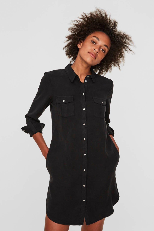VERO MODA blousejurk VMSILLA zwart, Zwart