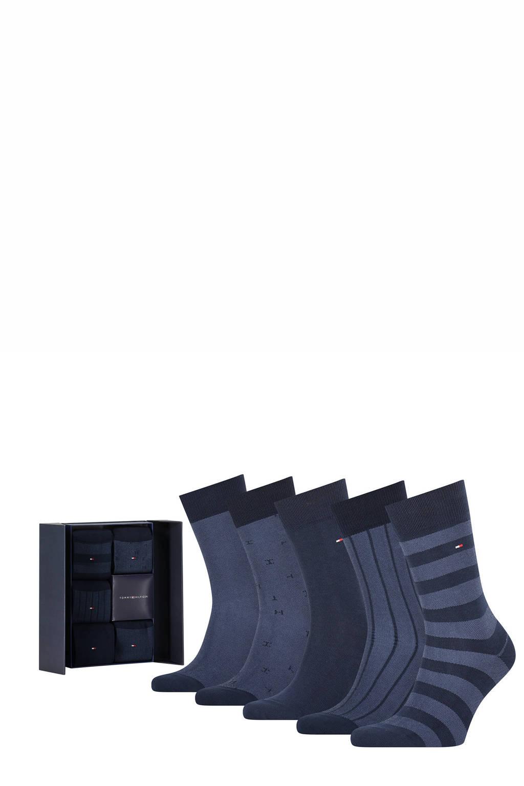 Tommy Hilfiger giftbox sokken - set van 5 donkerblauw, Donkerblauw