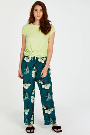 pyjamatop met knoopdetail geel