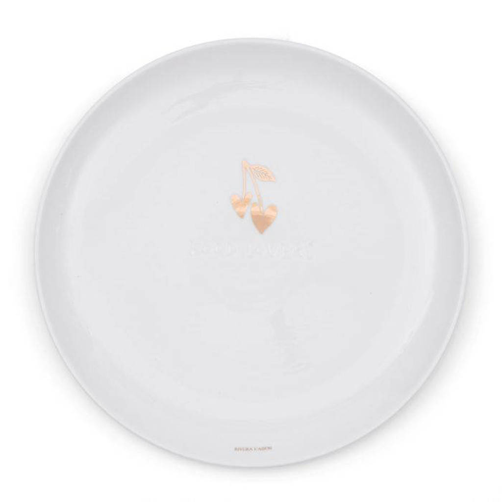 Riviera Maison Food Lovers ontbijtbord (Ø23 cm), Wit