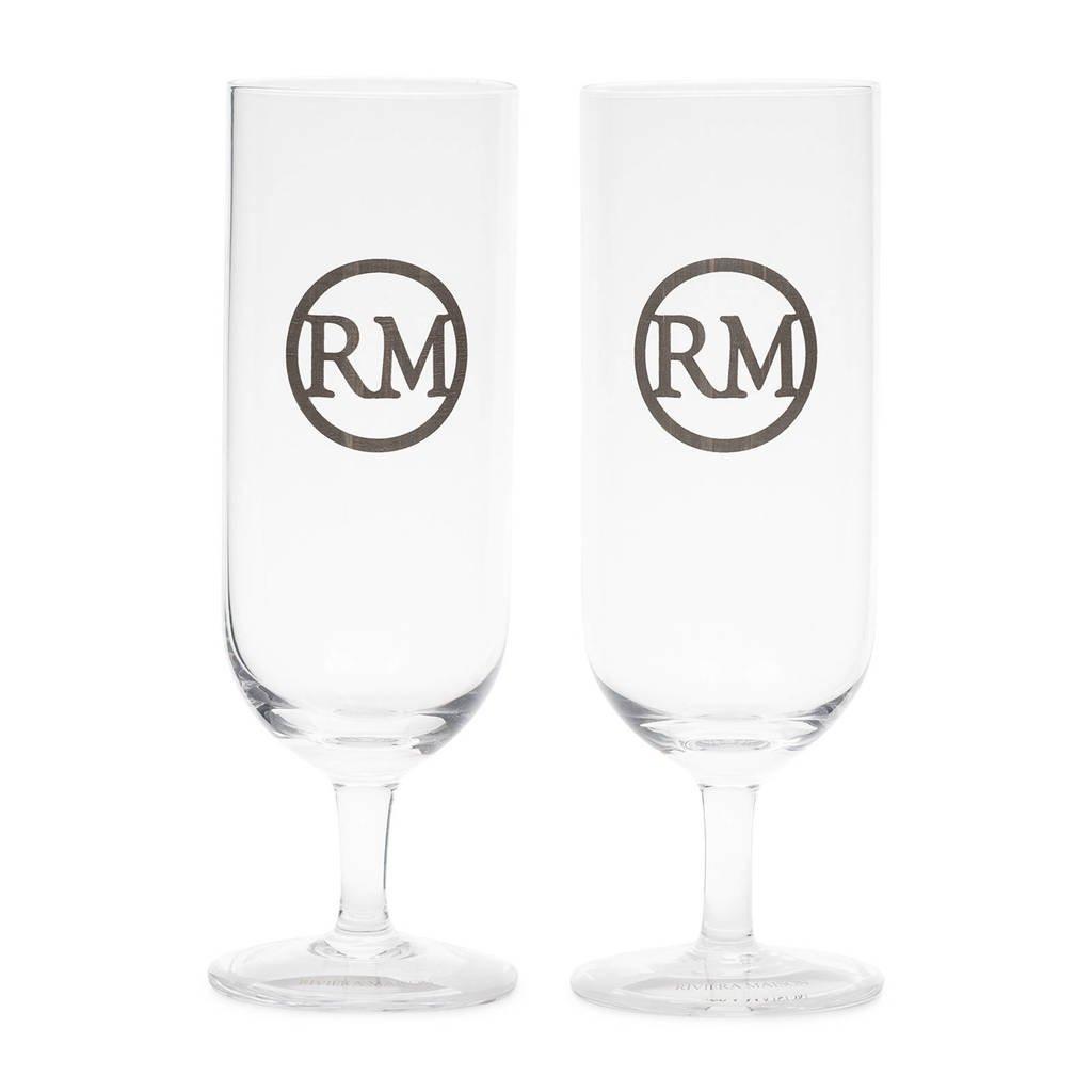 Riviera Maison Love RM bierglas, Transparant