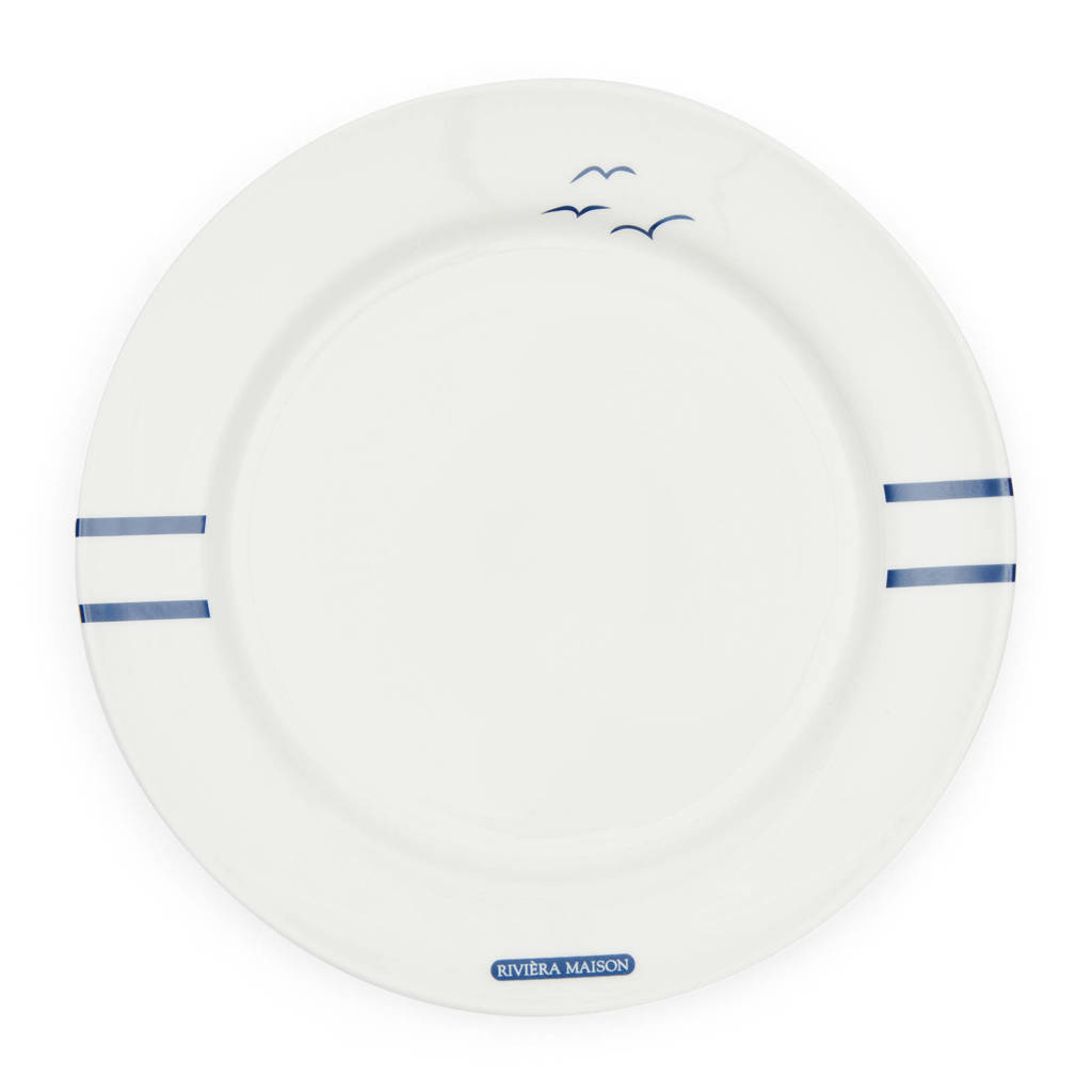 Riviera Maison Sylt Breakfast ontbijtbord (Ø21 cm), Wit