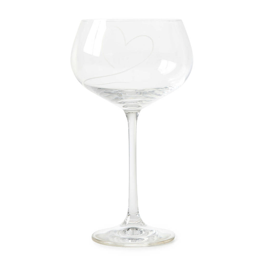 Riviera Maison With Love White wijnglas, Transparant