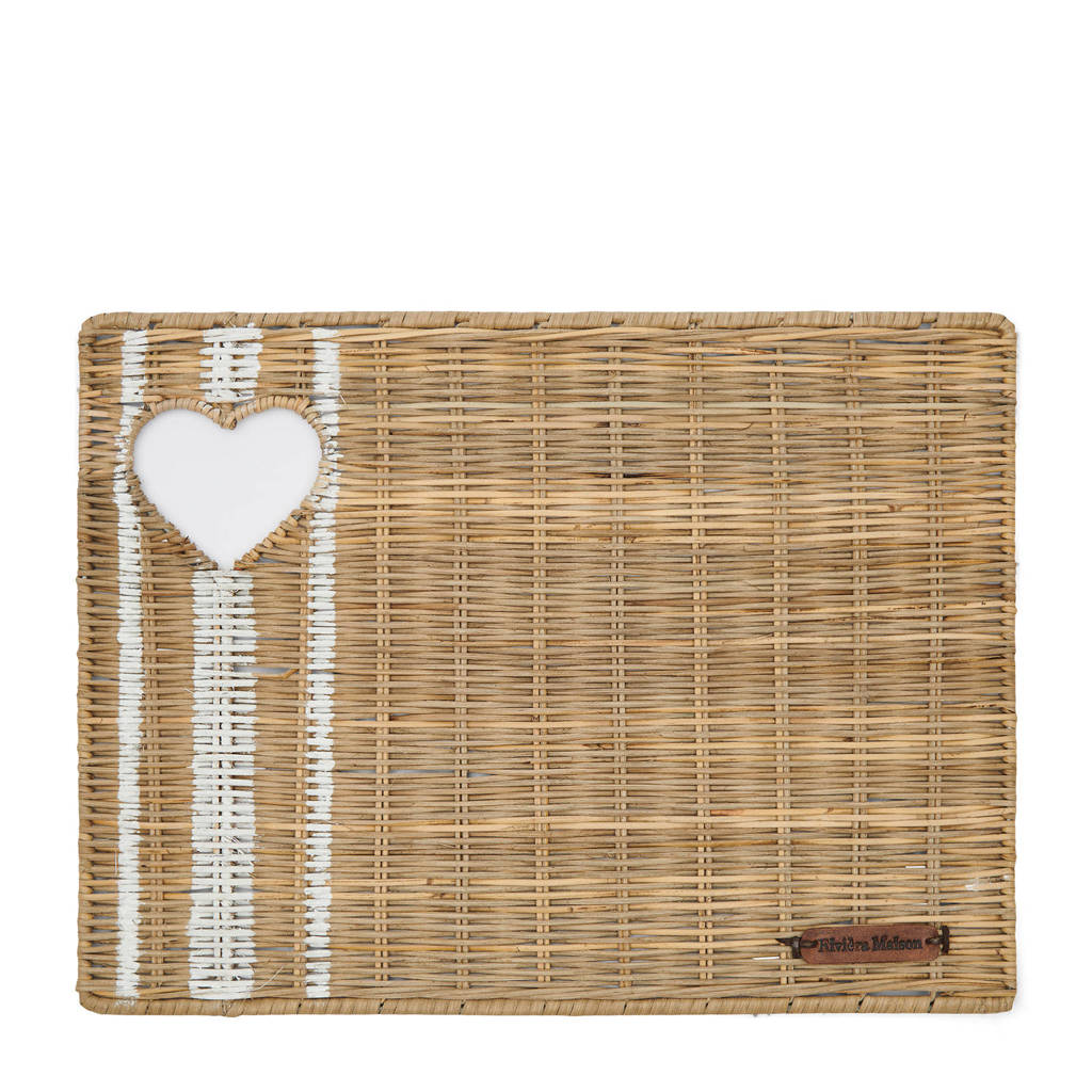 Riviera Maison Rustic Rattan With Love placemat, Bruin
