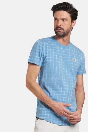 geruit T-shirt Tobi lichtblauw