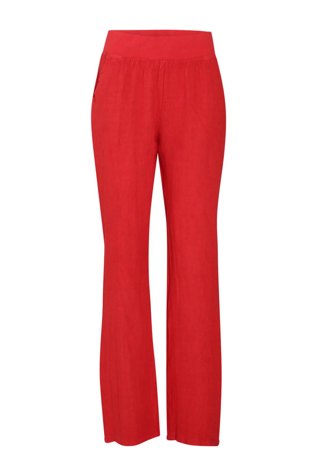 Cassis loose fit broek rood, Rood