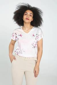 Cassis gebloemd T-shirt rosé, Rosé