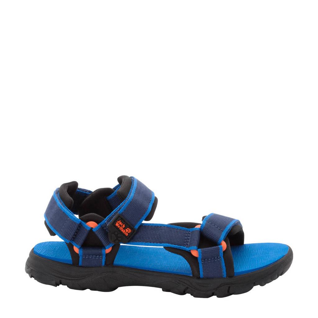 Jack Wolfskin Seven Seas 3  sandalen blauw/donkerblauw kids, blue/orange