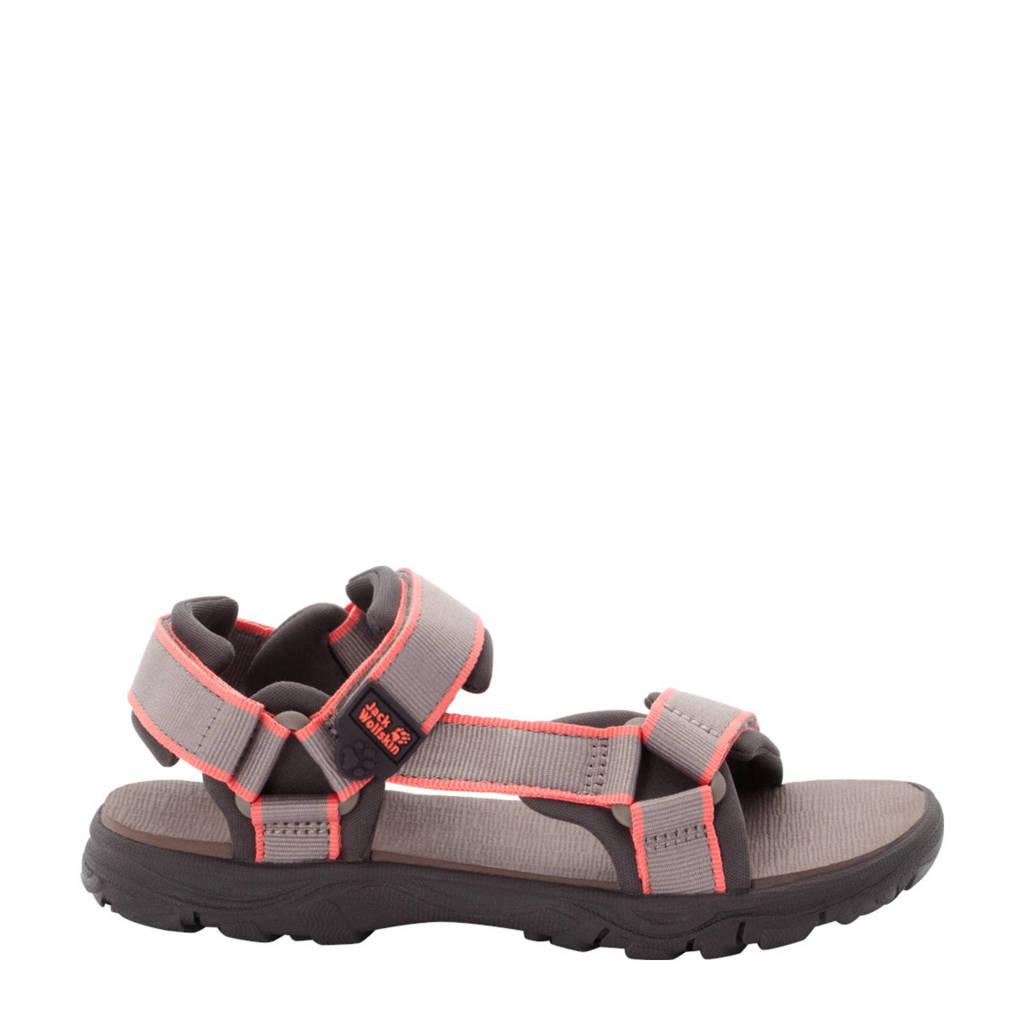 Jack Wolfskin Seven Seas 3  sandalen beige/roze kids, Beige/roze